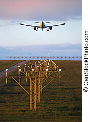 Landing airplane - Photo of an airplane just before landing....