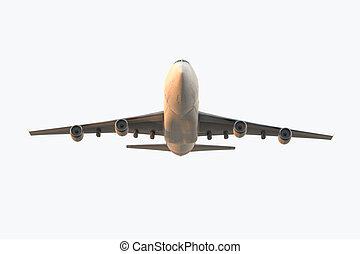 landing airplane - Very high resolution 3d render of an...