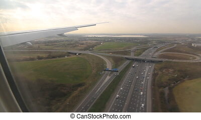 Landing at Heathrow. - Final approach and landing at...