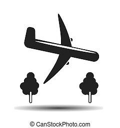 landing black icon
