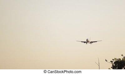 Landing of a passenger aircraft