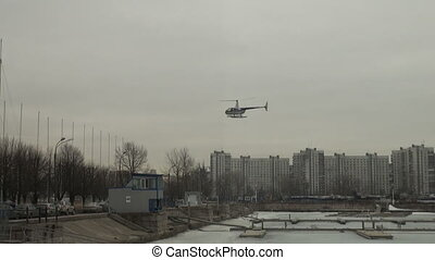 Landing on the helipad