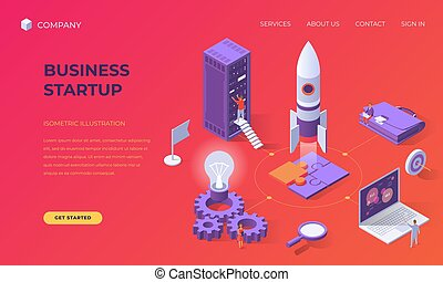 Landing page for business startup