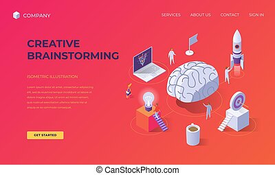 Landing page for creative brainstorming