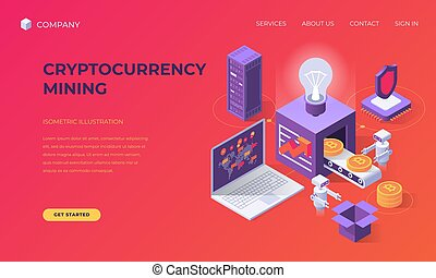 Landing page for cryptocurrency mining - Website landing ...