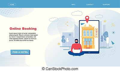 Landing Page for Hotel Search and Booking Online