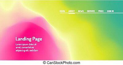 Landing page for website and mobile app. Modern abstract style. Vector web site design template.