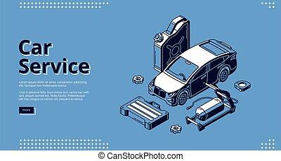 Landing page of car service, auto maintenance - Car service ...
