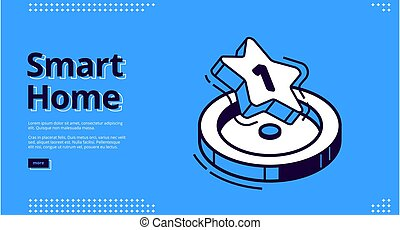 Landing page of smart home technology - Smart home banner. ...