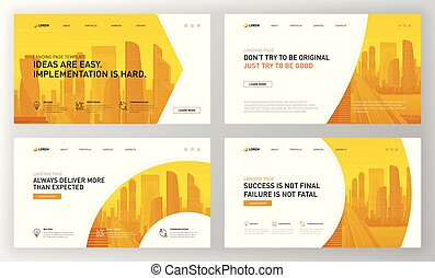 Landing page template for business. Modern web page design...