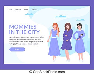 Landing page template. Mommies in the city.