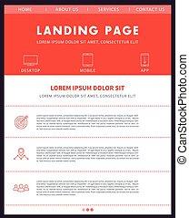 Landing page template, website design