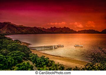 Landing pier on the Komodo island