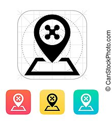 Landing place for drone icon. Vector illustration.