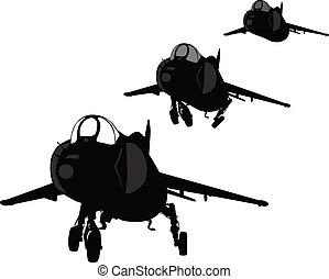 Landing plane silhouette