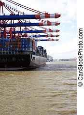 landing stage at hamburg harbor, germany 03 - The port of ...