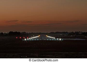 landing strip - Photo of landing strip in the evening