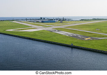Landing strip - The landing strip by the harbour in Europe.