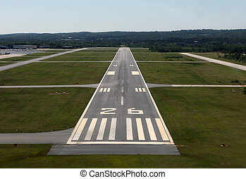Landing Time - Runway approach at a rural airport in the...