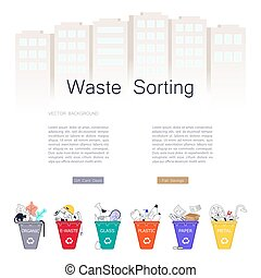 Sorting Garbage concept.