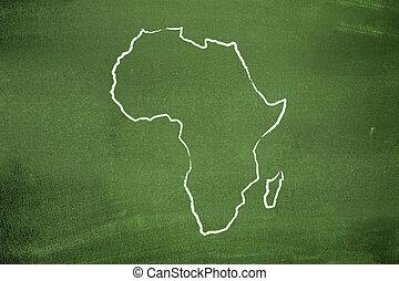 landkarte, afrikanisch