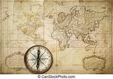 landkarte, altes