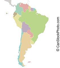 Landkarte Amerika Suden Leer Landkarte Projection Regional