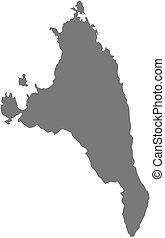 landkarte, antsiranana, -, (madagascar)
