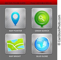 landkarte, app, heiligenbilder