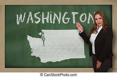 landkarte, ausstellung, washington, lehrer, tafel