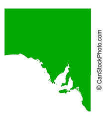 landkarte, australia, süden