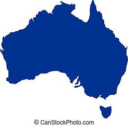 landkarte, australia