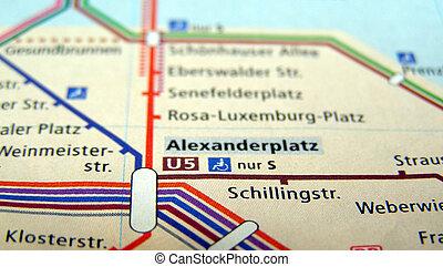 landkarte, berlin, ubahn