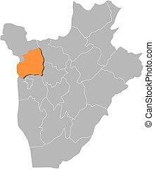 landkarte, -, bubanza, burundi
