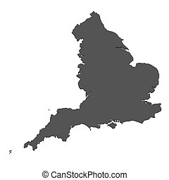 landkarte, england, freigestellt