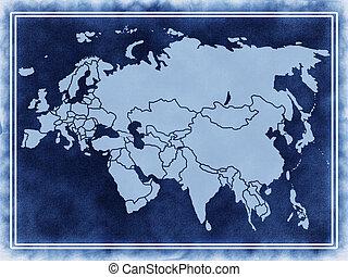 landkarte, eurasien