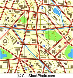 landkarte, fliese
