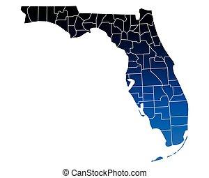 landkarte, florida