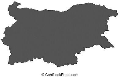 landkarte, -, freigestellt, bulgarien