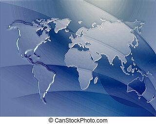 landkarte, geprägt, metall