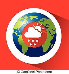 landkarte, grafik, silhouette, sonne, regen, wetter, wolke