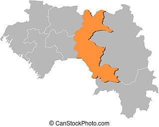 landkarte, -, guinea, faranah