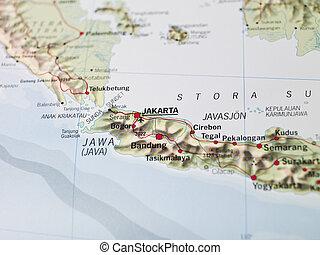 landkarte, jakarta