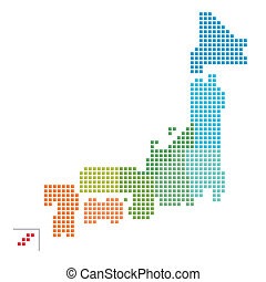 landkarte, japan