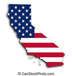 landkarte, kalifornien