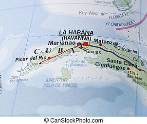 landkarte, kuba
