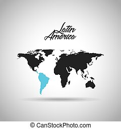 landkarte, lateinamerika