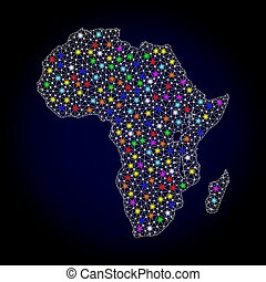 landkarte, leiche, licht, afrikas, flecke, hell, masche