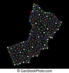 landkarte, leiche, licht, flecke, hell, masche, jemen