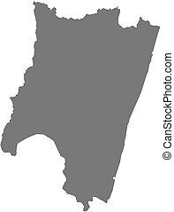 landkarte, -, (madagascar), fianarantsoa